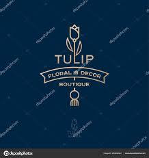 Логотип Бутика Цветов Домашнего Декора Золотой <b>Тюльпан</b> ...