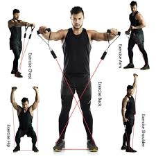 <b>Resistance Bands</b> set Pull Rope Latex <b>Fitness Exercises</b> Resistance ...
