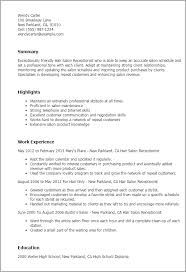 professional hair salon receptionist templates to showcase your    resume templates  hair salon receptionist