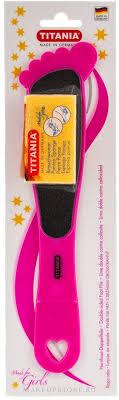 Педикюрная двусторонняя <b>терка с пемзой</b>, розовая - <b>Titania</b> ...