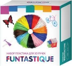 <b>Пластик</b> для 3D-ручки <b>Funtastique</b> 10 цветов (<b>PLA</b>-PEN-10)