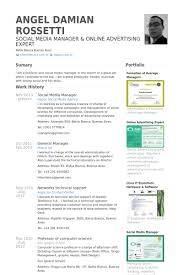 social media manager resume samples social media marketing resume sample