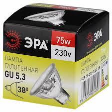 <b>Лампа галогенная ЭРА</b> стандарт 75 Вт GU5.3 MR16 теплый свет ...