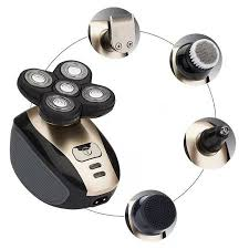5 IN 1 <b>4D</b> Rotary <b>Electric Shaver</b> Rechargeable Bald Head Shaver ...