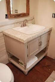 making bathroom cabinets: diy bathroom vanity i think i would rather order a real countertop though