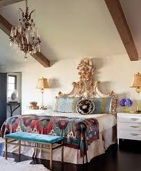 cool refined boho chic bedroom designs inspiration with queen sized bed luxury headboard golden accent also boho chic furniture