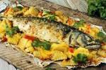 Запеченная рыба в духовке с картошкой