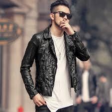 Men <b>new</b> British style zipper genuine leather jacket sheepskin top ...