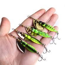 <b>4PCS</b>/<b>lot</b> 4 Colors 15g 70mm Insects <b>Fishing Baits</b> Spoon <b>Sequin</b> ...