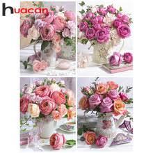 Huacan <b>5D DIY Алмазная картина</b> цветок полная квадратная ...