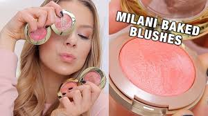 <b>MILANI BAKED BLUSHES</b> (Review + Swatches) - YouTube