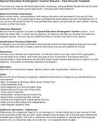 jk elementary school teacher sample ed teacher resume special        education kindergarten teacher resume   ed