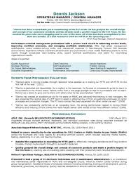resume resume general manager template of resume general manager