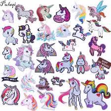 <b>Pulaqi Cute Unicorn</b> Animal Patches Cartoon Iron On Stickers for ...