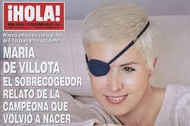 María de Villota, en la portada de la revista 'Hola'-. María de Villota pierde el ojo derecho · Grave accidente de la piloto madrileña María de Villota ... - Maria-Villota-portada-revista-Hola