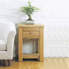 aston solid oak one drawer lamp table bedside table baumhaus space aston solid oak