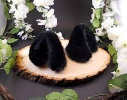 Fluffy <b>Black Wolf</b> Ears Leather/ <b>Realistic</b> Cosplay Kitten Pet | Etsy