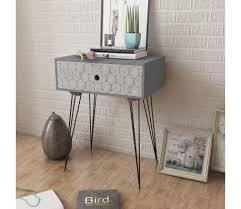 Home, Furniture & DIY Retro <b>Nightstand with 1 Drawer</b> Rectangular ...