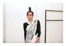 photo essay backstage abraham thakore ishtailista model rakshitha sunaina in peter pan collared blouse styled sari 4227