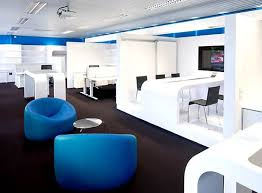 modern office interior design and stylish blue chair the perfect corporate office second or third business office floor