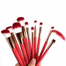 Shop <b>10 PCS</b> Multifunctional <b>Makeup</b> Brush Set Thermal Induction ...