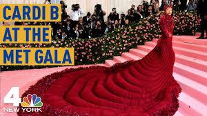 Met Gala 2019: Cardi B Stuns in a Gigantic <b>Red Dress</b> | NBC <b>New</b> ...