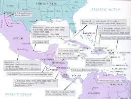 unit imperialism world war i map u s interventions in latin america