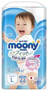<b>Moony трусики Man</b> для мальчиков L (9-14 кг) 44 шт. — купить по ...
