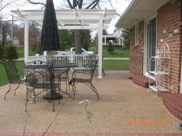 aggregate patio: exposed aggregate exposed aggregate patio with pergola exposed aggrega