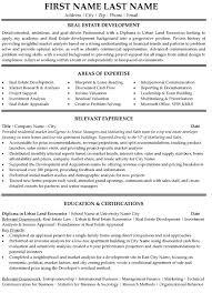 top real estate resume templates  amp  samplesreal estate developer student