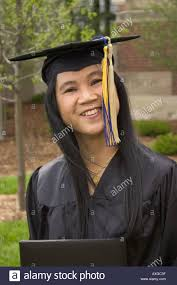 an asian w just graduating from college stock photo royalty an asian w just graduating from college