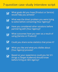 actionable tips for writing compelling seo case studies case study questionnaire