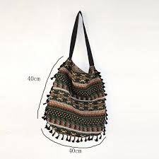 Tassel Fringe Women <b>Vintage</b> Shoulder Bag Gypsy <b>Bohemian</b> ...