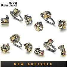 2019 <b>DreamCarnival1989 New Arrive</b> Geometric Square Ring + ...