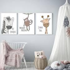 Be Brave Be Strong <b>Cartoon Animal</b> Nursery Wall Art in 2019 ...