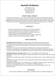 professional franchise owner templates to showcase your talent    resume templates  franchise owner