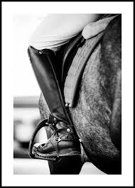 <b>Horse Riding Poster</b> - Black & White - Posterstore.eu