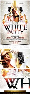 white party flyer template carpets models and bottle white party flyer template