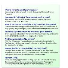 sky s the limit fund frequently asked questions frequently asked questions