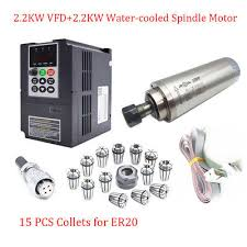 ER20 2.2KW CNC Spindle Motor Water Cooled+2.2KW Inventer ...