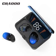 <b>CBAOOO ES01 TWS</b> Bluetooth Earphones 5.0 9D Stereo Wireless ...