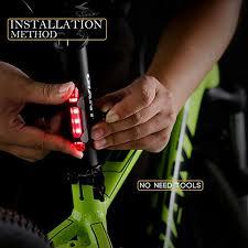 LED <b>Bike Taillight Bicycle</b> Rear Warning Lamp <b>USB Charging</b> Night ...