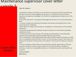 maintenance supervisor cover letteryours sincerely mark dixon    maintenance supervisor cover letter