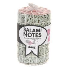 """<b>Блок для записей</b> Doiy """"<b>Salami</b>"""", диаметр 6 см"""