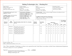 sample packing list survey template words export invoice and packing list by dhv15220