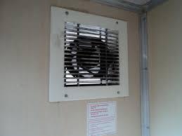 fan shutter kitchen wall ventilator