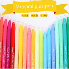 <b>36PCS Gel Pens</b> Monami Plus Pens Glitter Pen Korean Stationery ...