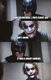 How did Michael J. Fox's flight go? I don't know It was a shaky ... via Relatably.com