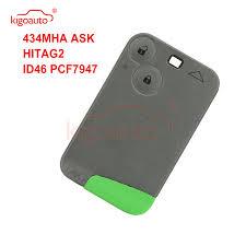 <b>Kigoauto</b> Remote <b>Smart key</b> card 2 button 433Mhz ID46 PCF7947 ...