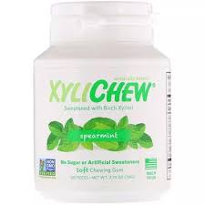 Xylichew, <b>Spearmint</b>, <b>60 Pieces</b>, <b>2.75</b> oz (78 g)